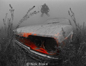 The remains of a Reliant Scimitar car languishing in Wray... by Nick Blake 
